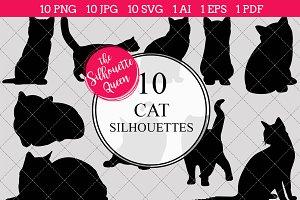 Cat Silhouette Clipart Clip Art