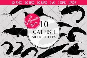 Catfish Silhouette Clipart Clip Art