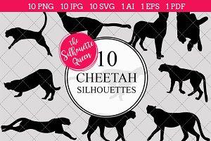 Cheetah Silhouette Clipart Clip Art