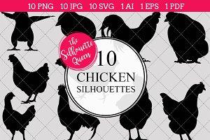 Chicken Silhouette Clipart Clip Art