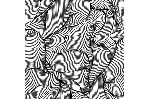 Seamless wave hair line pattern.