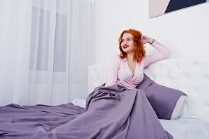 Portrait of an attractive redheaded