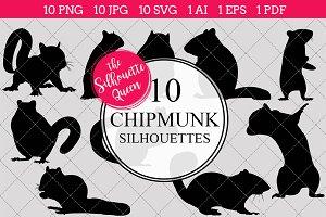 Chipmunk Silhouette Clipart Clip Art