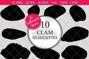 Clam Silhouette Clipart Clip Art