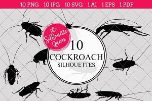Cockroach Silhouette Clipart Clip
