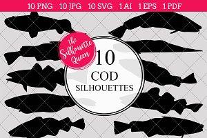 Cod Fish Silhouette Clipart Clip Art