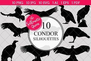 Condor Bird Silhouette Clipart Clip