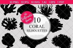 Coral Silhouette Clipart Clip Art