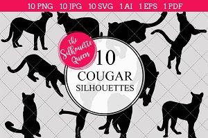 Cougar Silhouette Clipart Clip Art