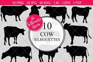 Cow Silhouette Clipart Clip Art