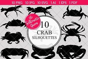 Crab Silhouette Clipart Clip Art