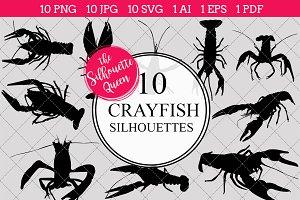 Crayfish Silhouette Clipart Clip Art