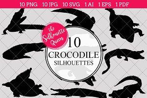 Crocodile Silhouette Clipart Clip