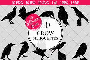 Crow Silhouette Clipart Vector
