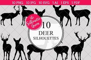 Deer Silhouette Clipart Vector