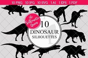 Dinosaur Silhouette Clipart Vector