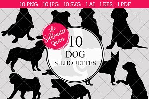 Dog Silhouette Clipart Clip Art