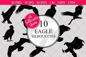 Eagle Silhouette Clipart Vector