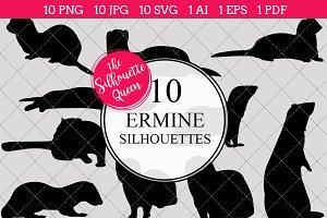 Ermine Silhouette Clipart Vector