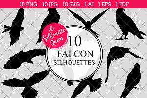 Falcon Bird Silhouette Clipart