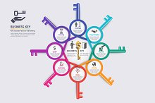 Business Key Concept Infographics
