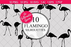 Flamingo Silhouette Clipart  Vector