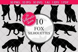 Fox Silhouette Clipart Vector