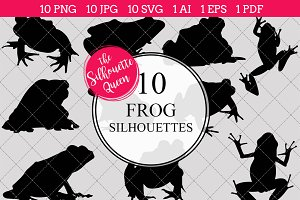 Frog Silhouette Clipart Vector