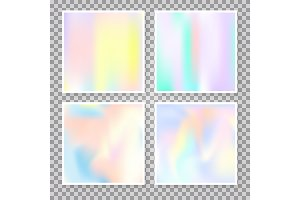 Holographic abstract backgrounds set