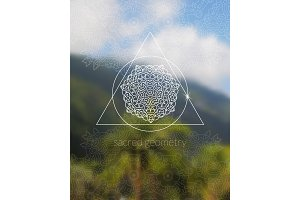 Boho sacred geometry mandala on