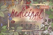 Medicinal herbs color set Vol.2