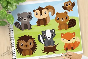 Forest Animals - Vector Clipart, SVG