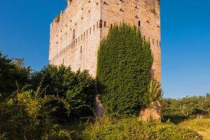 Medieval tower in Burgos, Spain.