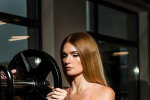 Beautiful girl functional training i