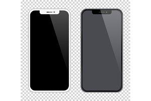 Realistic smartphones mockups