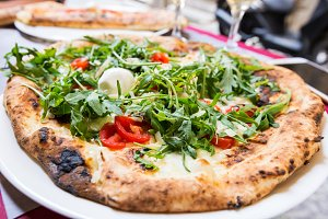 Italian pizza with arugula