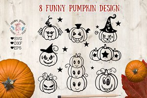 Funny Pumpkins SVG DXF EPS