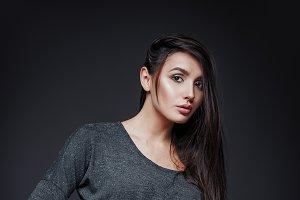 Studio fashion: pretty young girl