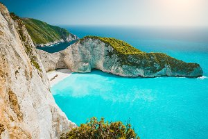 Navagio beach or Shipwreck bay