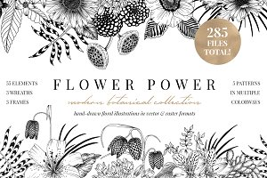 FLOWER POWER botanical illustrations