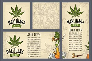 Set template posters Marijuana