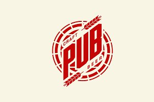Craft beer brewery vector logo