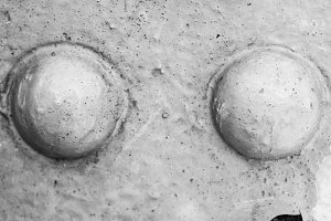 Rusted Surface in Black and White