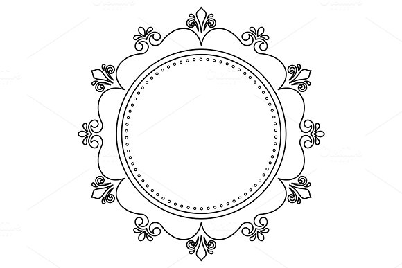 Elegant Vector Ornament in Classic