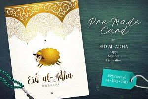 6. Eid Al-Adha Pre-Made Card