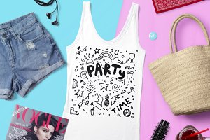 Hand drawn lettering - Party time