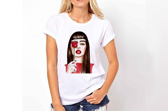 Fashional portraits of girls in Illustrations - product preview 2