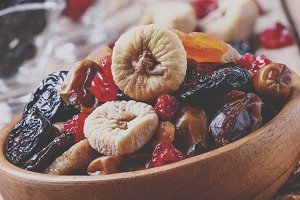 Healthy food: mix from dried fruits