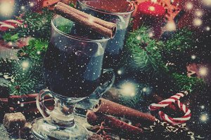 Christmas and New Year mulled wine w