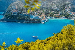 Assos village, Kefalonia. Greece